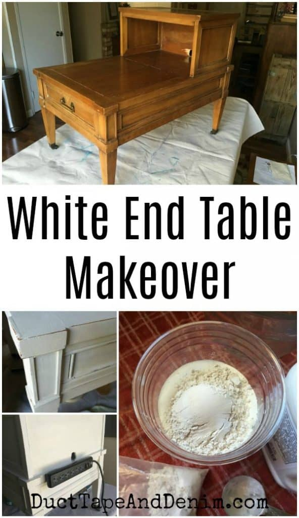 White end table makeover