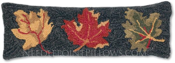 Wool Fall leaf lumbar pillow