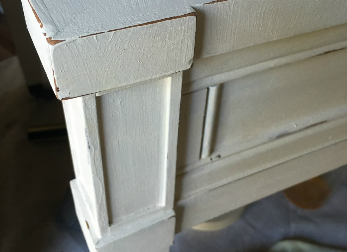 Painted White End Table Makeover with Chalk Mix in Latex Paint