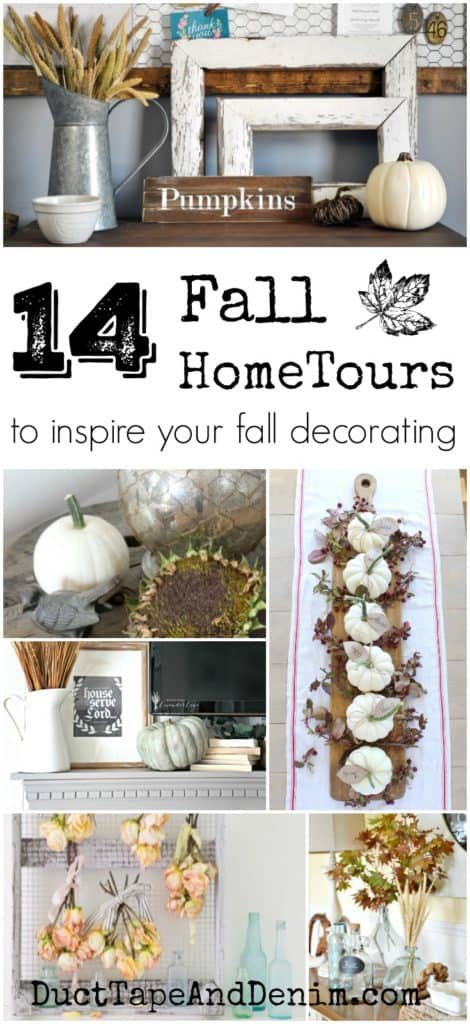 14 fall home tours to inspire your fall decorating | DuctTapeAndDenim.com