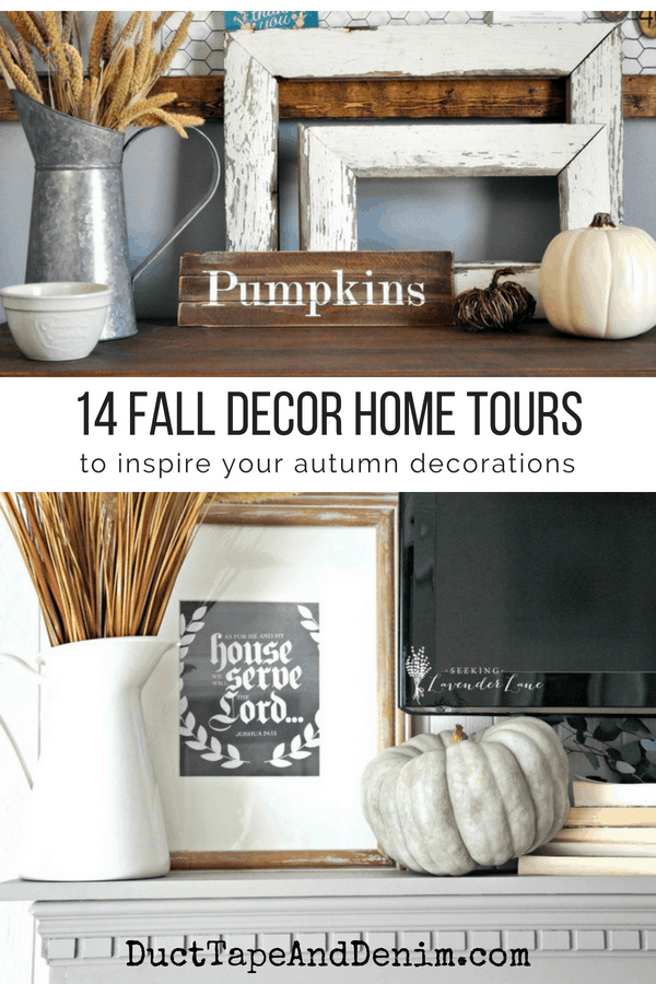 14 Fall decor home tours to inspire your autumn decorating | DuctTapeAndDenim.com