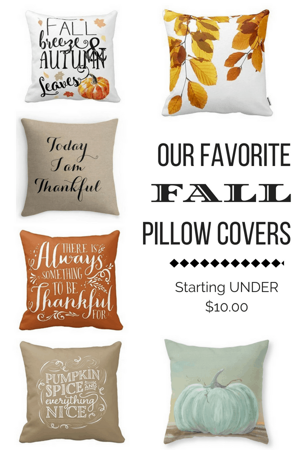 Fall Pillow Covers Starting Under $10 on DuctTapeAndDenim.com