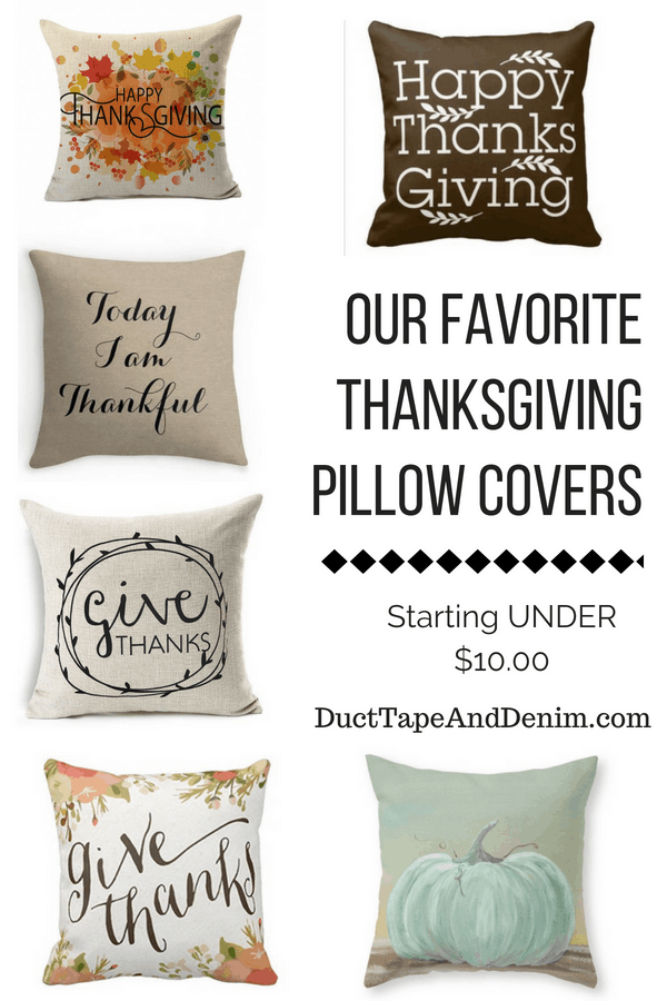 Thanksgiving Pillow Covers Starting Under $10