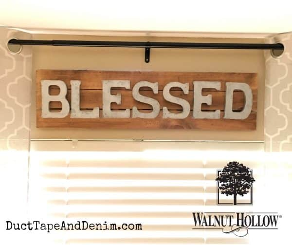 Faux metal blessed sign | DuctTapeAndDenim.com