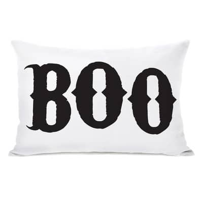 Boo lumbar pillow Halloween pillow cover