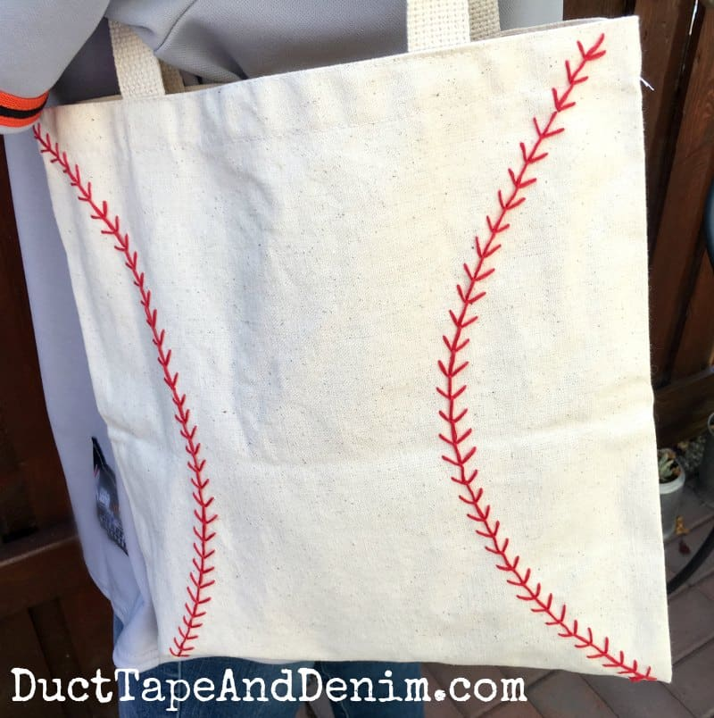 How to Make an Embroidered Baseball Bag or Tote