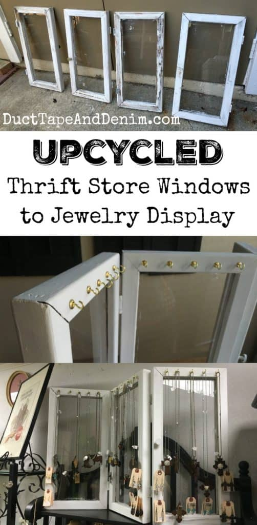 Upcycled Jewelry Display From Thrift Store Windows