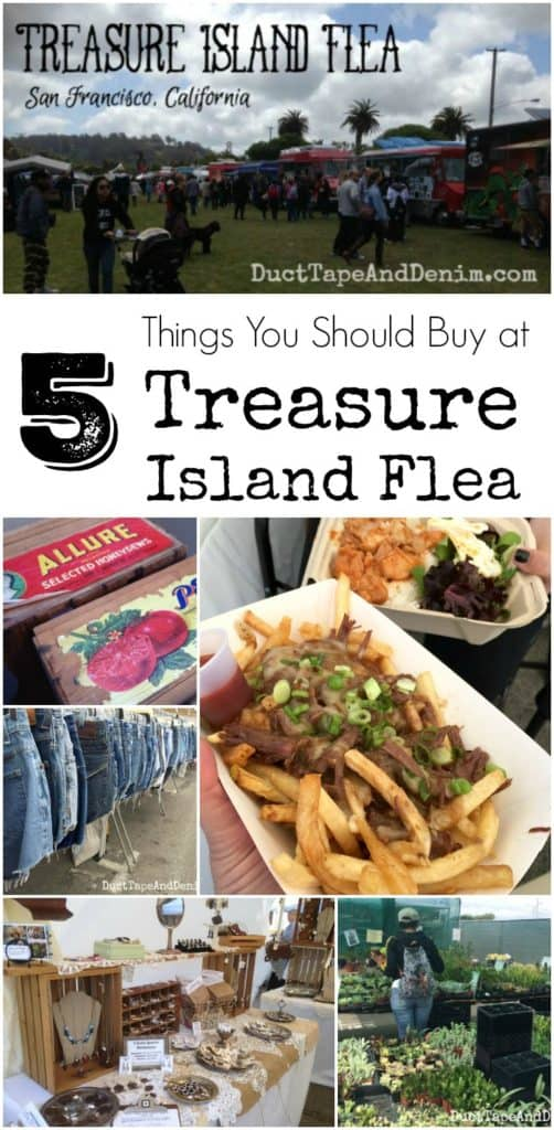 What to buy at Treasure Island Flea Market in San Francisco, California. My five favorite things on DuctTapeAndDenim.com