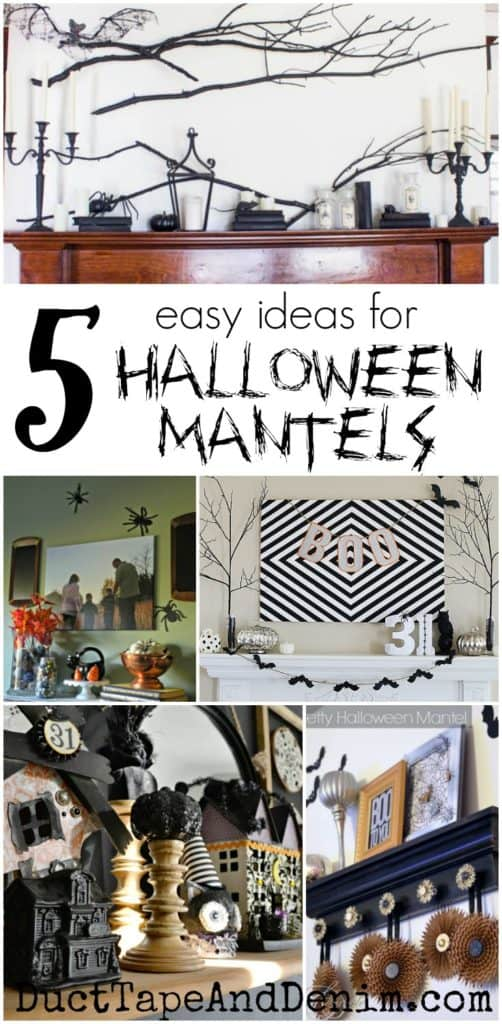 5 easy ideas for Halloween mantels | DuctTapeAndDenim.com
