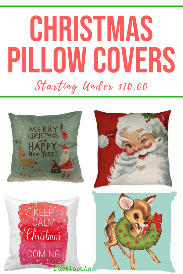 Christmas pillow covers, pin 1