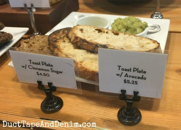 Toast plate with avocado at Cat and Cloud Coffee Shop in Santa Cruz, California | DuctTapeAndDenim.com