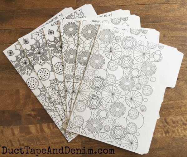 File folders, coloring for grown ups & free coloring pages on DuctTapeAndDenim.com