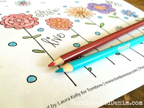 Free coloring page by Laura Kelly for Tombow | DuctTapeAndDenim.com