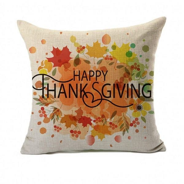 Happy Thanksgiving pillow cover on DuctTapeAndDenim.com