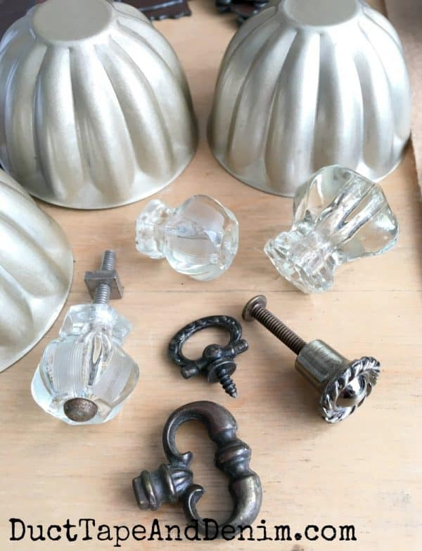 Supplies for fall vintage jello molds junky pumpkins