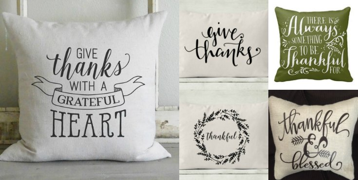 Thanksgiving Pillows and Pillow Covers Starting at UNDER $10.00