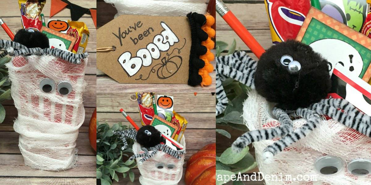 Halloween Boo Basket with Popcorn Box #popcornboxparty2016