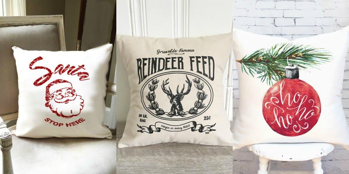 inexpensive christmas pillow covers
