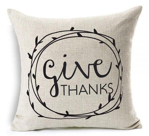 Give thanks pillow cover, Thanksgiving pillows on DuctTapeAndDenim.com