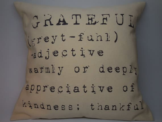 Grateful, Thanksgiving pillow, DuctTapeAndDenim.com