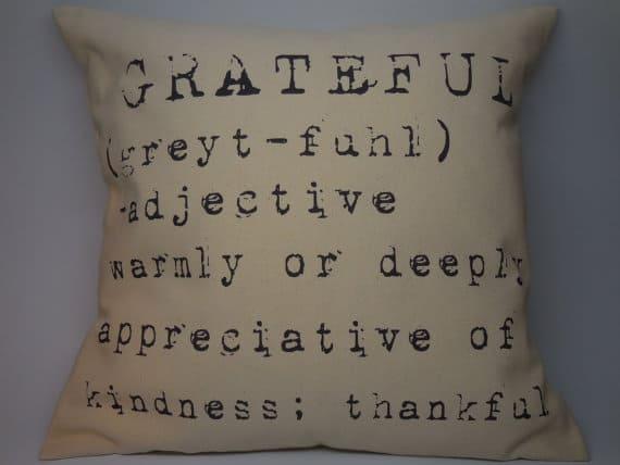 Grateful, Thanksgiving pillow, DuctTapeAndDenim.com