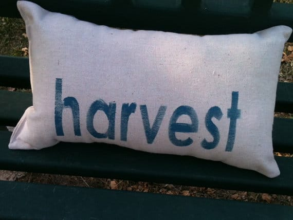 Thanksgiving harvest pillow | DuctTapeAndDenim.com