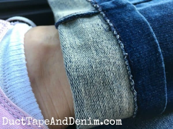 Close up PajamaJeans fabric | What to Wear to Flea Markets | Fashion over 40 | Fashion over 50 | DuctTapeAndDenim.com