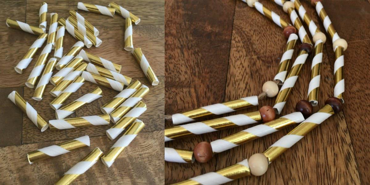 Paper Straw Garland | Thanksgiving Decor