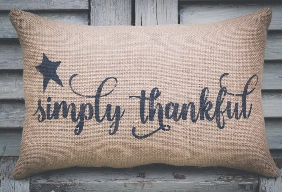 Simply thankful, Thanksgiving pillows on DuctTapeAndDenim.com