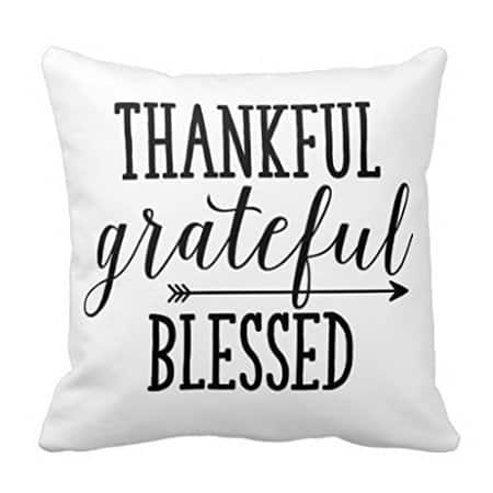 Thankful grateful blessed, more Thanksgiving pillows on DuctTapeAndDenim.com