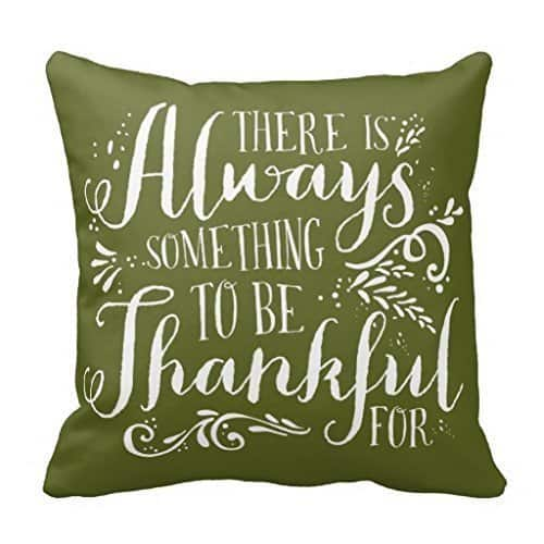 There's always something to be thankful for, more Thanksgiving pillows on DuctTapeAndDenim.com