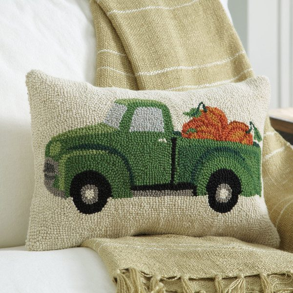 Fall pickup truck pillow | DuctTapeAndDenim.com