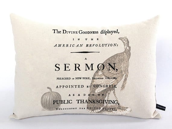 Vintage Thanksgiving sermon pillow case | DuctTapeAndDenim.com