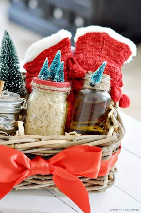 DIY spa gift basket, one of the 5 things to do in November to prepare for Christmas | DuctTapeAndDenim.com