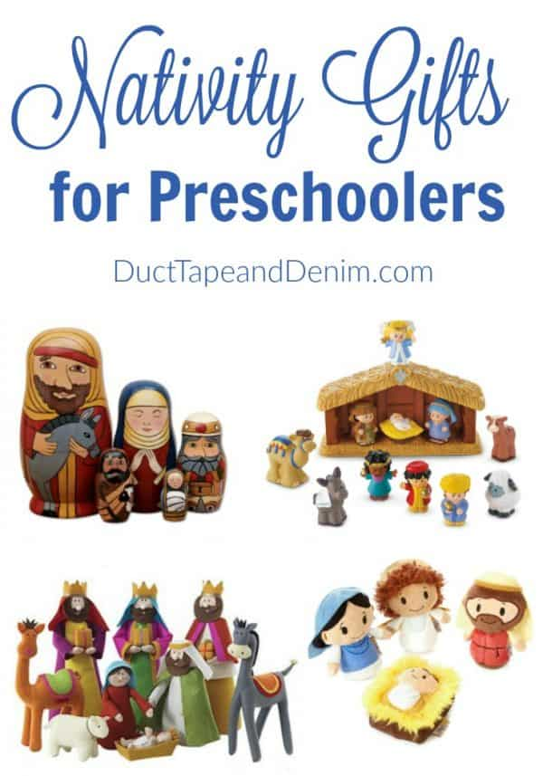 Nativity scenes for preschoolers, Christmas gift guide | DuctTapeAndDenim.com