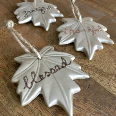 How to Make Leaf Ornaments for Thanksgiving