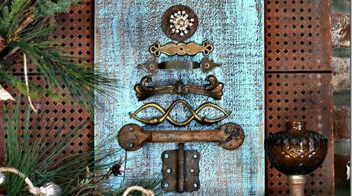 Vintage Hardware Upcycled Christmas Tree | 12DoC, Day Two