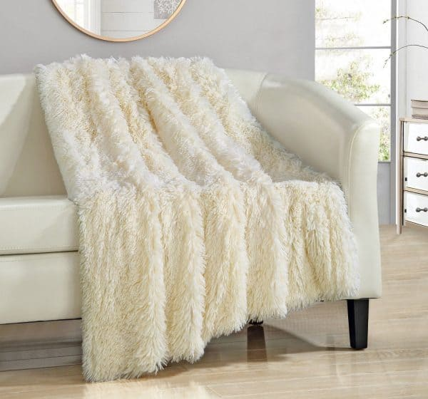 Faux fur throw blanket. Perfect for watching Christmas movies.