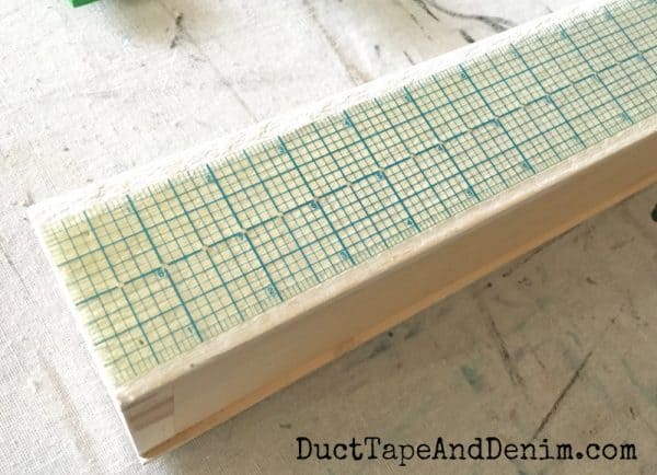 Measure wood ledge to find center | DuctTapeAndDenim.com