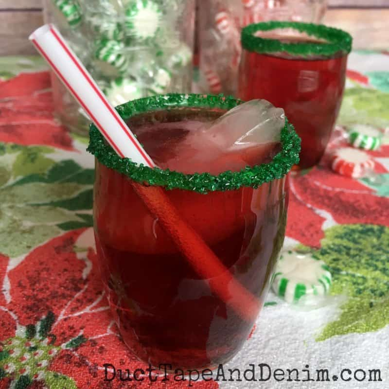 Rudolph punch, my kid's favorite Christmas drink! DuctTapeAndDenim.com