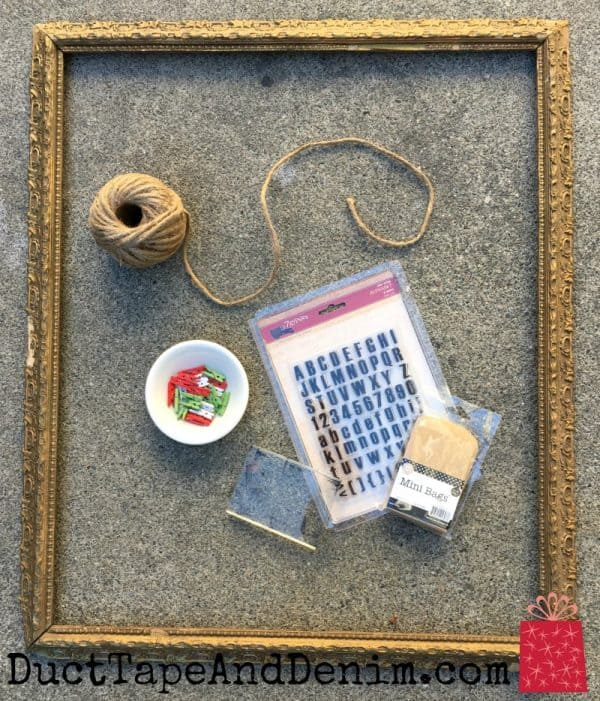 Supplies used for Canvas Corp Brands vintage Advent calendar | DuctTapeAndDenim.com