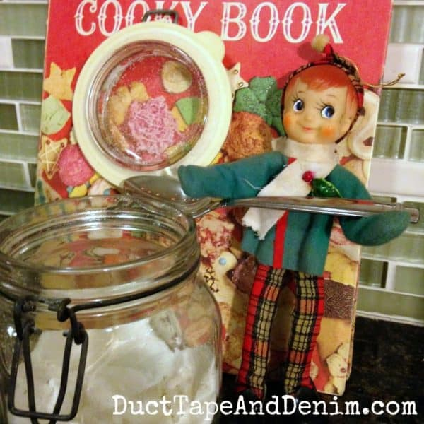 Vintage elf with Cooky Book | DuctTapeAndDenim.com