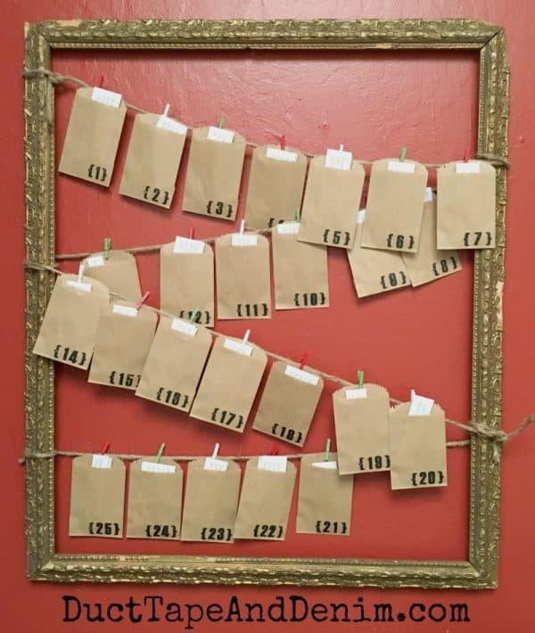 Vintage frame Advent calendar | DuctTapeAndDenim.com