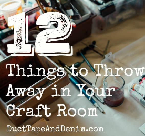 12 Things to Throw Away When Organizing a Craft Room