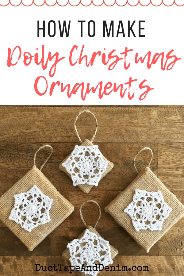 How to make doily christmas ornaments