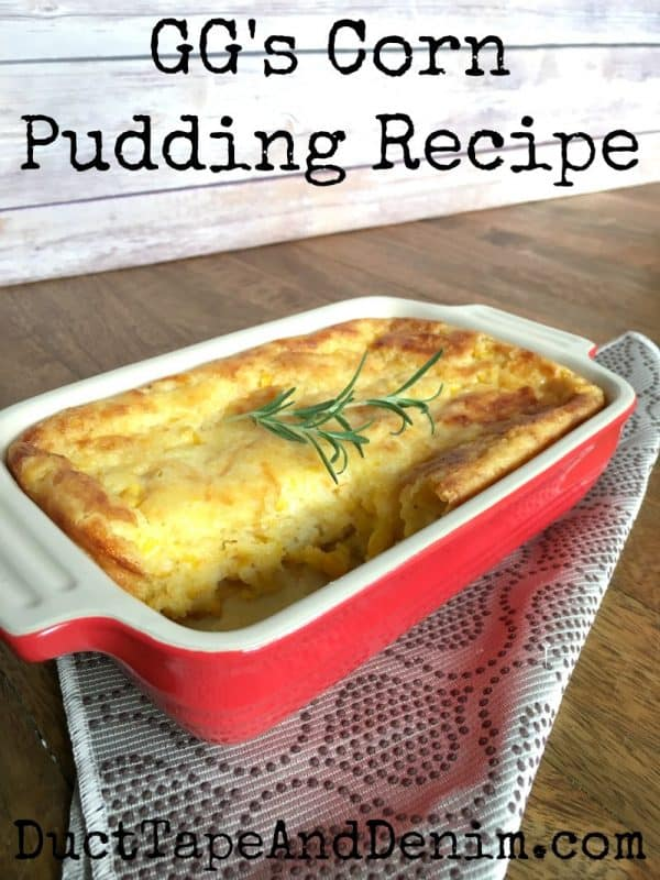 GG's corn pudding recipe Scotch-Brite Brand scrubbing dish cloth | DuctTapeAndDenim.com