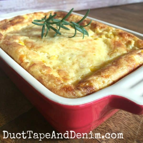 GG's corn pudding recipe, quick easy family favorite meal on DuctTapeAndDenim.com