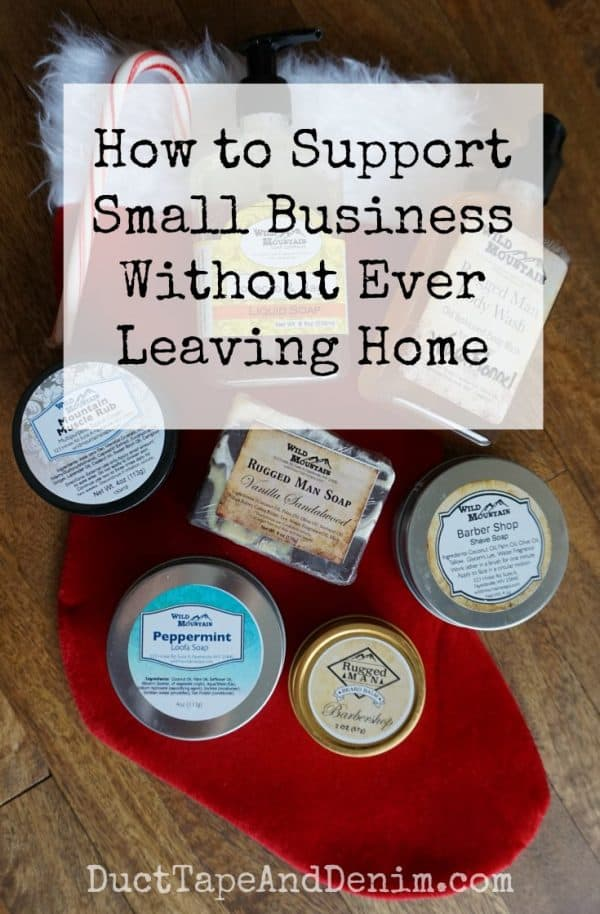 How to support small business without ever leaving home | DuctTapeAndDenim.com