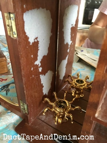 Inside the thrift store makeover jewelry cabinet