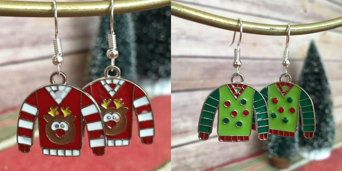 Ugly Christmas Sweater Earrings | What to Wear to an Ugly Christmas Sweater Party